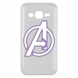 Чехол для Samsung J2 2015 Avengers and simple logo