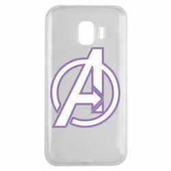 Чехол для Samsung J2 2018 Avengers and simple logo