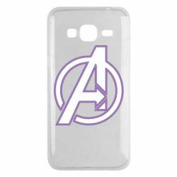 Чехол для Samsung J3 2016 Avengers and simple logo