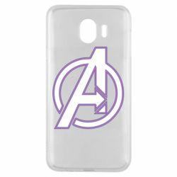 Чехол для Samsung J4 Avengers and simple logo