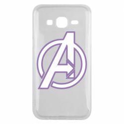 Чехол для Samsung J5 2015 Avengers and simple logo