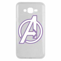 Чехол для Samsung J7 2015 Avengers and simple logo