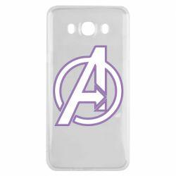 Чехол для Samsung J7 2016 Avengers and simple logo