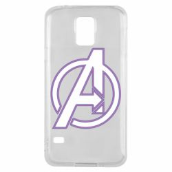 Чехол для Samsung S5 Avengers and simple logo