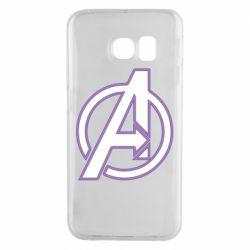 Чехол для Samsung S6 EDGE Avengers and simple logo