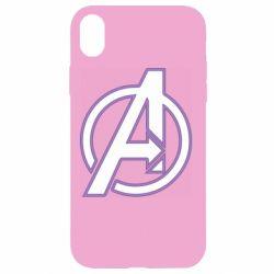 Чехол для iPhone XR Avengers and simple logo