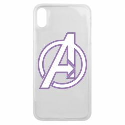 Чехол для iPhone Xs Max Avengers and simple logo