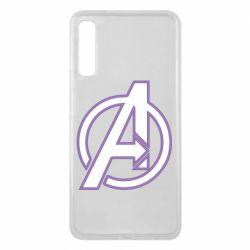 Чехол для Samsung A7 2018 Avengers and simple logo