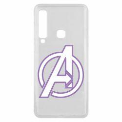 Чехол для Samsung A9 2018 Avengers and simple logo