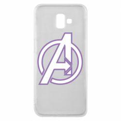 Чехол для Samsung J6 Plus 2018 Avengers and simple logo