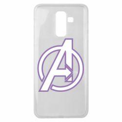Чехол для Samsung J8 2018 Avengers and simple logo
