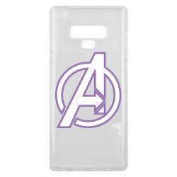 Чехол для Samsung Note 9 Avengers and simple logo