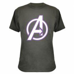 Камуфляжная футболка Avengers and simple logo