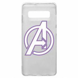 Чехол для Samsung S10+ Avengers and simple logo