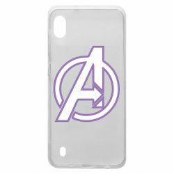 Чехол для Samsung A10 Avengers and simple logo