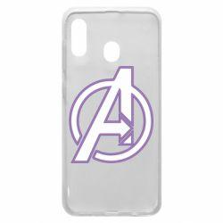 Чехол для Samsung A20 Avengers and simple logo