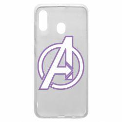 Чехол для Samsung A30 Avengers and simple logo
