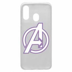 Чехол для Samsung A40 Avengers and simple logo
