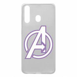 Чехол для Samsung A60 Avengers and simple logo