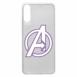 Чехол для Samsung A70 Avengers and simple logo