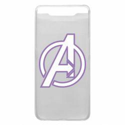 Чехол для Samsung A80 Avengers and simple logo