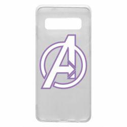 Чехол для Samsung S10 Avengers and simple logo