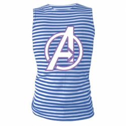 Майка-тельняшка Avengers and simple logo