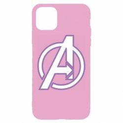 Чехол для iPhone 11 Avengers and simple logo