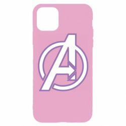 Чехол для iPhone 11 Pro Avengers and simple logo