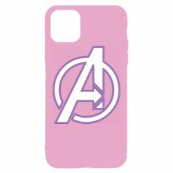 Чехол для iPhone 11 Pro Max Avengers and simple logo
