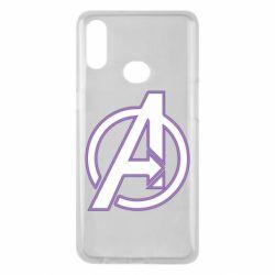 Чехол для Samsung A10s Avengers and simple logo