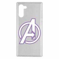 Чехол для Samsung Note 10 Avengers and simple logo