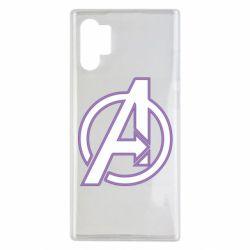 Чехол для Samsung Note 10 Plus Avengers and simple logo