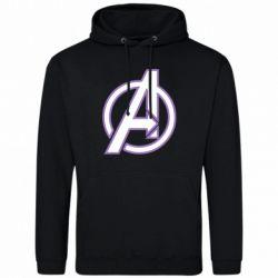 Мужская толстовка Avengers and simple logo
