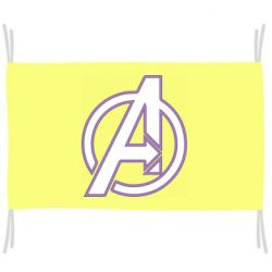 Флаг Avengers and simple logo