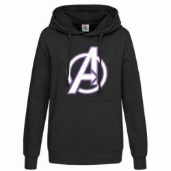 Женская толстовка Avengers and simple logo