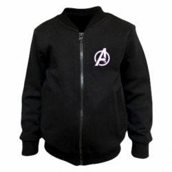 Детский бомбер Avengers and simple logo