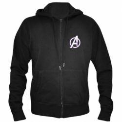 Мужская толстовка на молнии Avengers and simple logo