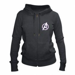 Женская толстовка на молнии Avengers and simple logo
