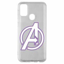 Чехол для Samsung M30s Avengers and simple logo