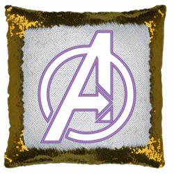 Подушка-хамелеон Avengers and simple logo