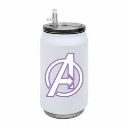 Термобанка 350ml Avengers and simple logo