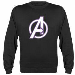 Реглан (свитшот) Avengers and simple logo