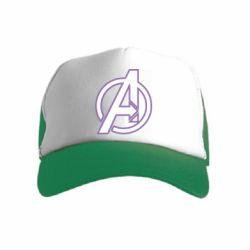 Детская кепка-тракер Avengers and simple logo