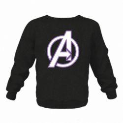 Детский реглан (свитшот) Avengers and simple logo