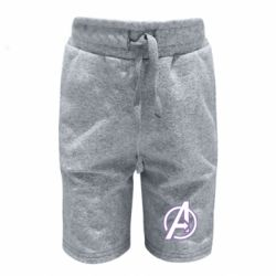 Детские шорты Avengers and simple logo