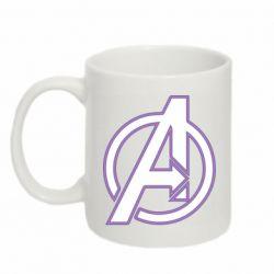 Кружка 320ml Avengers and simple logo
