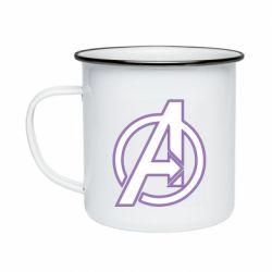 Кружка эмалированная Avengers and simple logo