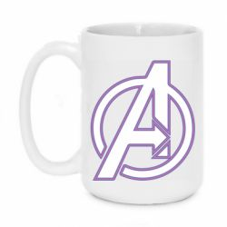 Кружка 420ml Avengers and simple logo