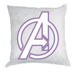 Подушка Avengers and simple logo